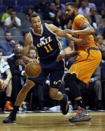 Utah Jazz Guard Dante Exum 11 Of Australia Drives