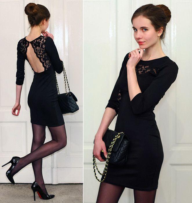 Sexy Black Dress - Backless Dress - Velvet Dress - $48.00 | Little ...
