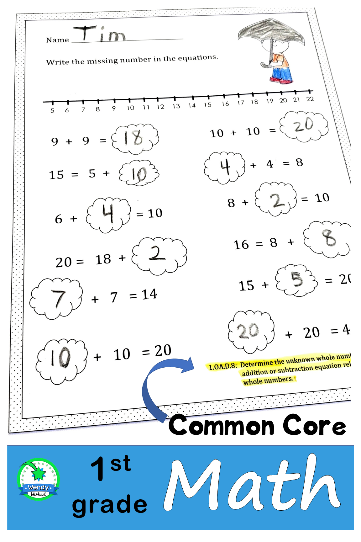 Need Extra Math Practice Pages For Your 1st Grade Students