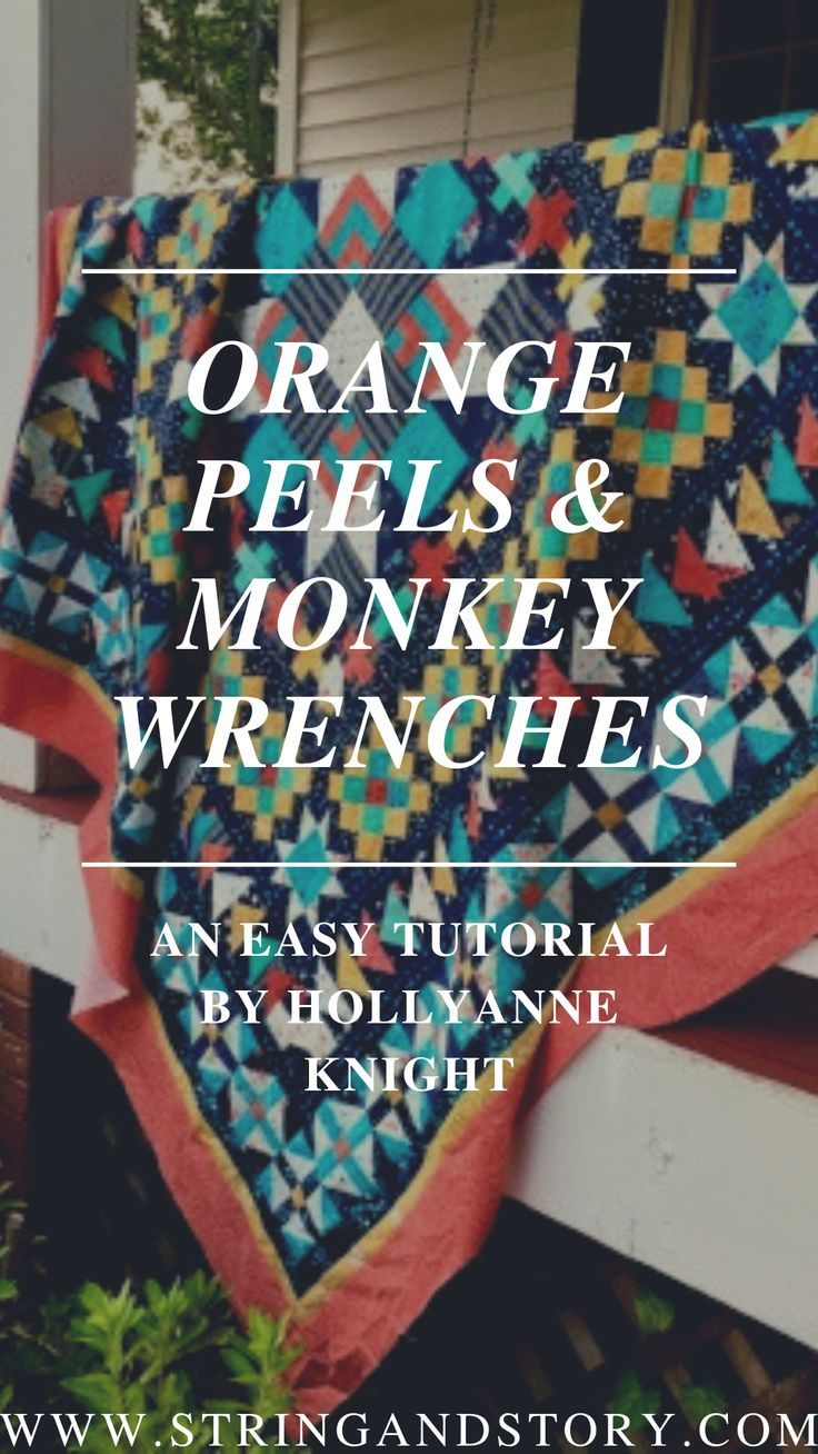 How to Quilt Orange Peels  Monkey Wrenches If you as a beginner quilter or an expert are having trouble with quilting blocks then my tutorial is for YOU For my tips and t...