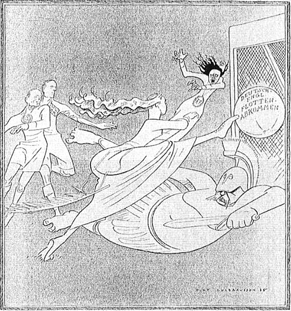 This German Cartoonjuly1935 One Goal Scored Commemorates The