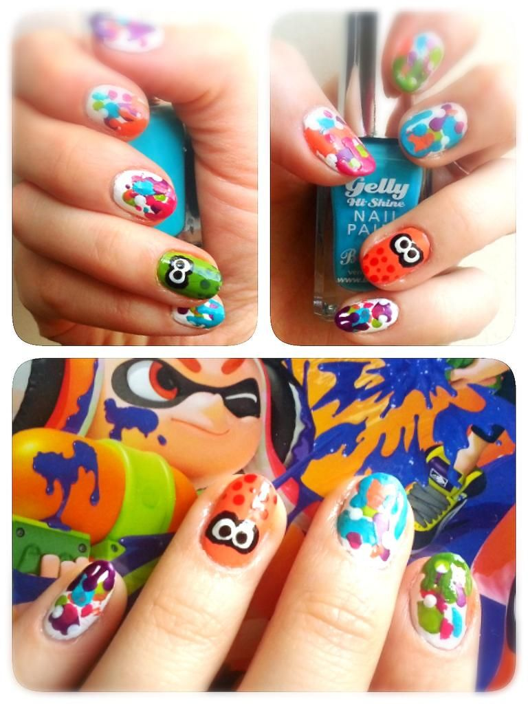 nails ucud splatoon Nail art Pinterest Teen nails and Mani pedi