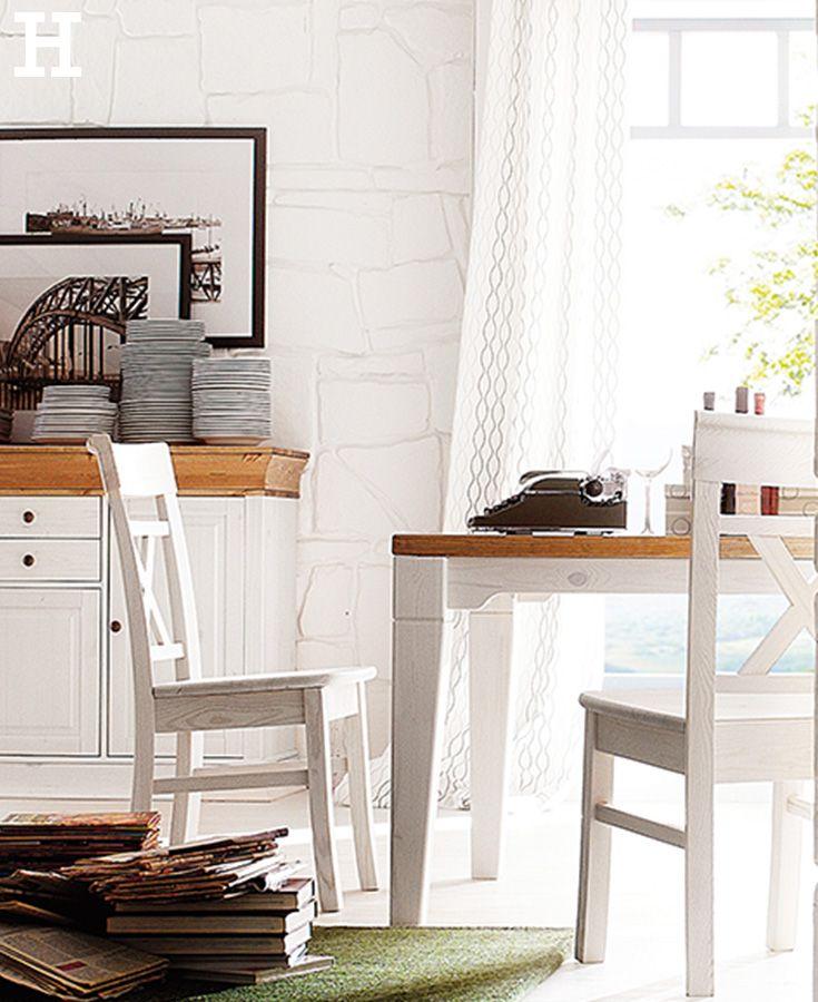 2er Set Massivholz Stühle Bornholm, gefunden bei Möbel Höffner