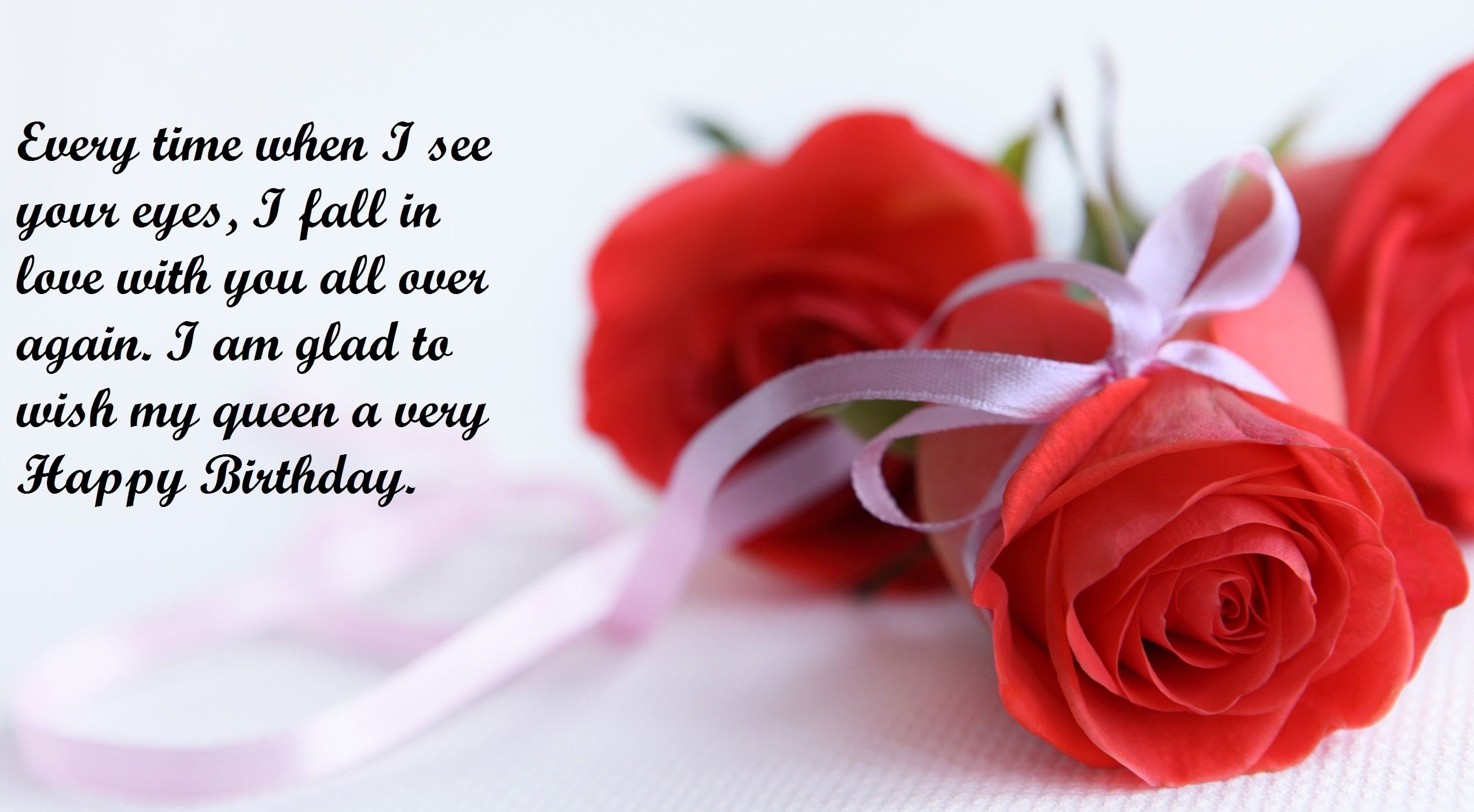 Happy birthday wishes for girlfriend rose quotes