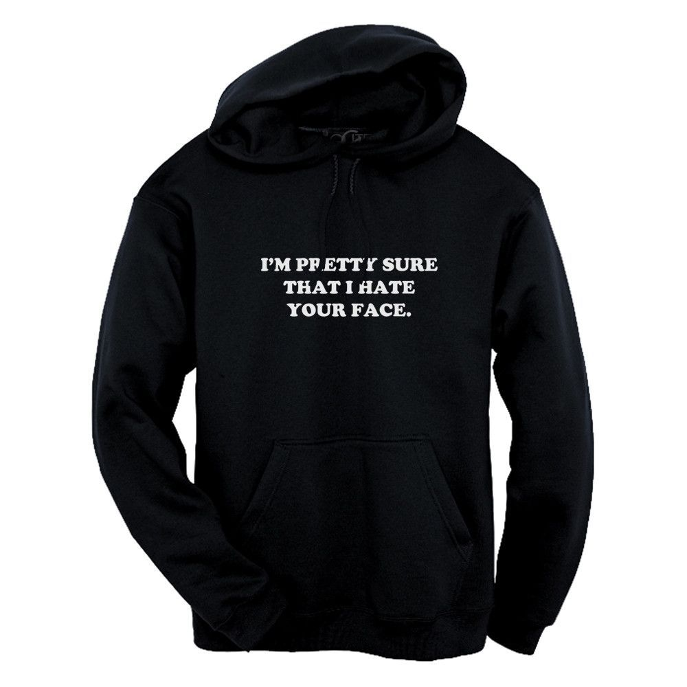 GLITZ I Hate Your Face Unisex Pullover Hoodie