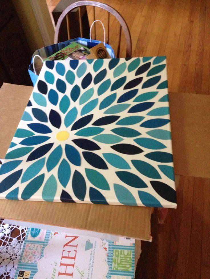paint chip art projects | DIY wall art - paint chip, canvas, & mod