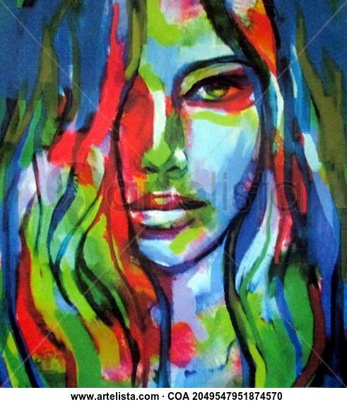 Comprar Face Of Grace Pintura De Helena Wierzbicki Por 550 00 Eur En Artelista Com Con Gastos De E Arte Colorido Producción Artística Arte Abstracto Moderno