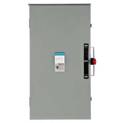 Siemens Double Throw 200 Amp 240 Volt 2 Pole Outdoor Non Fusible Safety Switch Safety Switch Locker Storage Transfer Switch