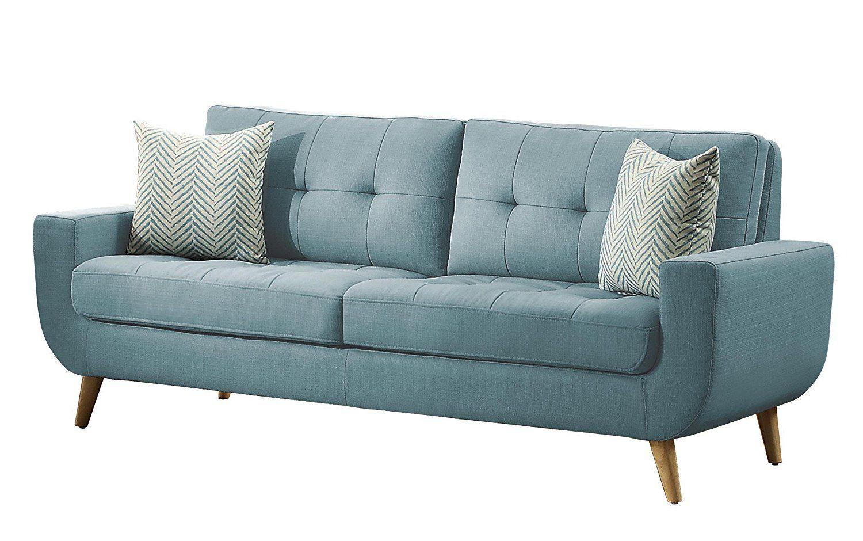 Amazon homelegance deryn midcentury modern sofa with tufted