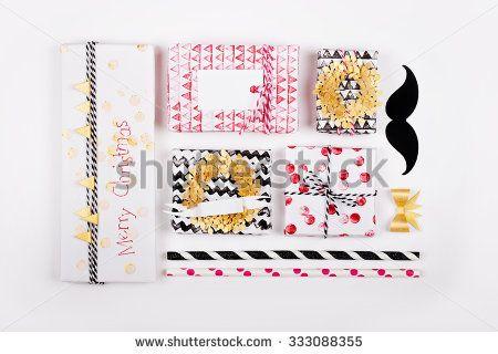 Christmas handmade gifts  - stock photo