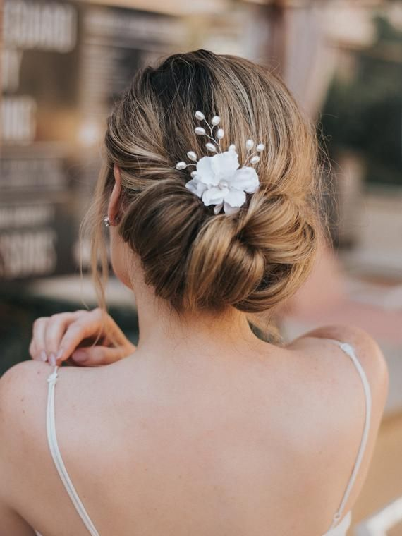 Hair Flowers, Romantic Wedding Hair Accessories, Bridal Hair Accessories, Bridal Flower ~ Raelynn
