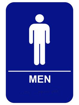 Men S Ada Braille Restroom Sign Restroom Sign Bathroom Signs Men Logo