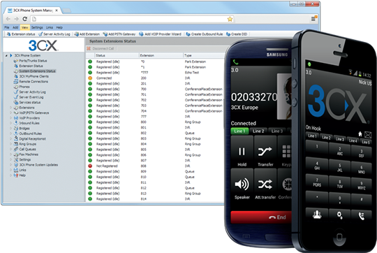 3CX Version 12 Console and 3CXPhone Softphone Apps for Android and iPhone. http://jomar.cc/3cx