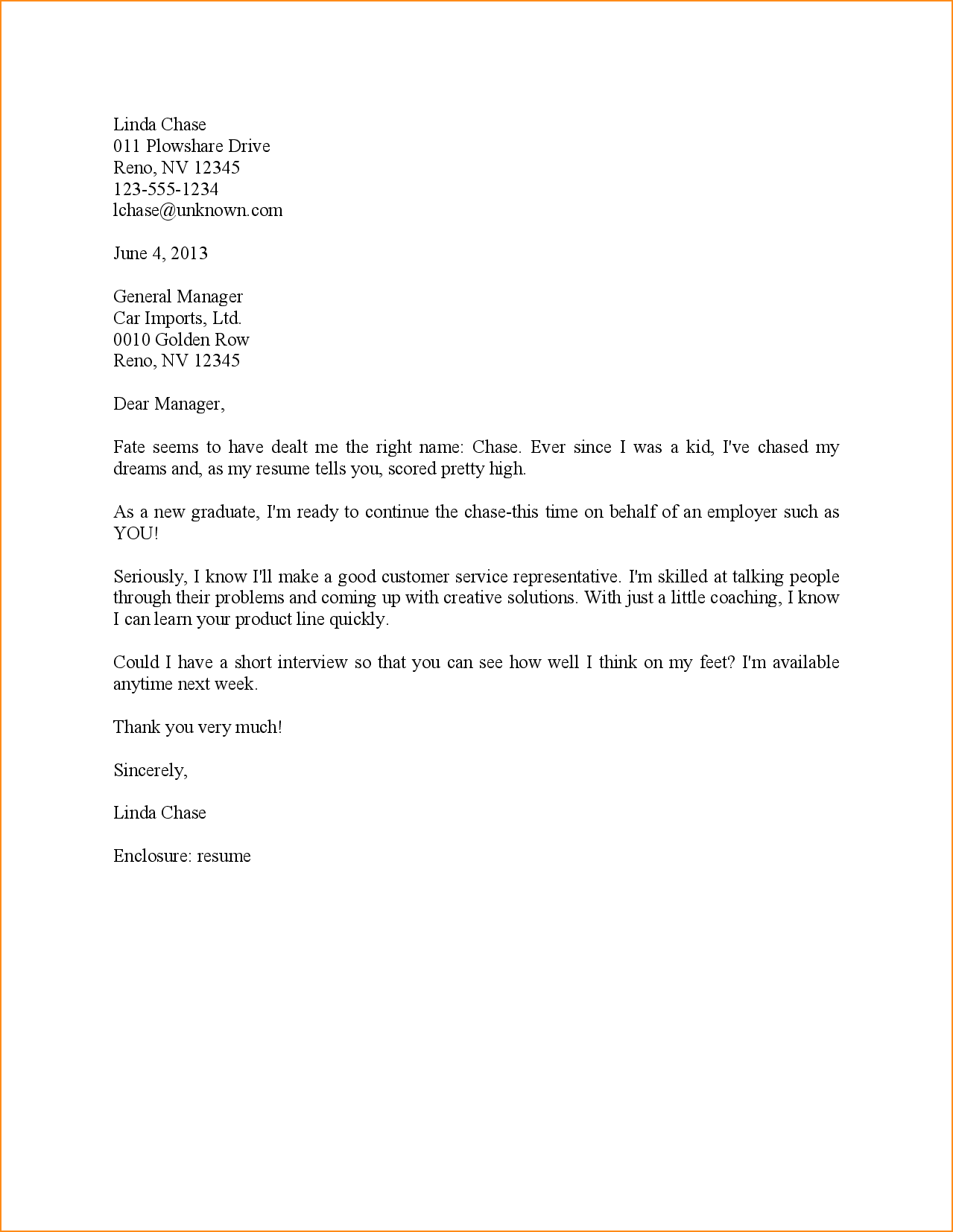 Cover Letter Example Customer Service Sample Examples For Bank The