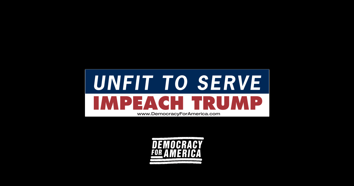Free impeach trump bumper sticker