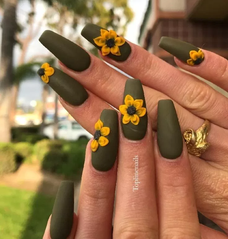 55 fun and flirty floral designs for cute nails this summer 2019 8 » Welcome #autumnnails