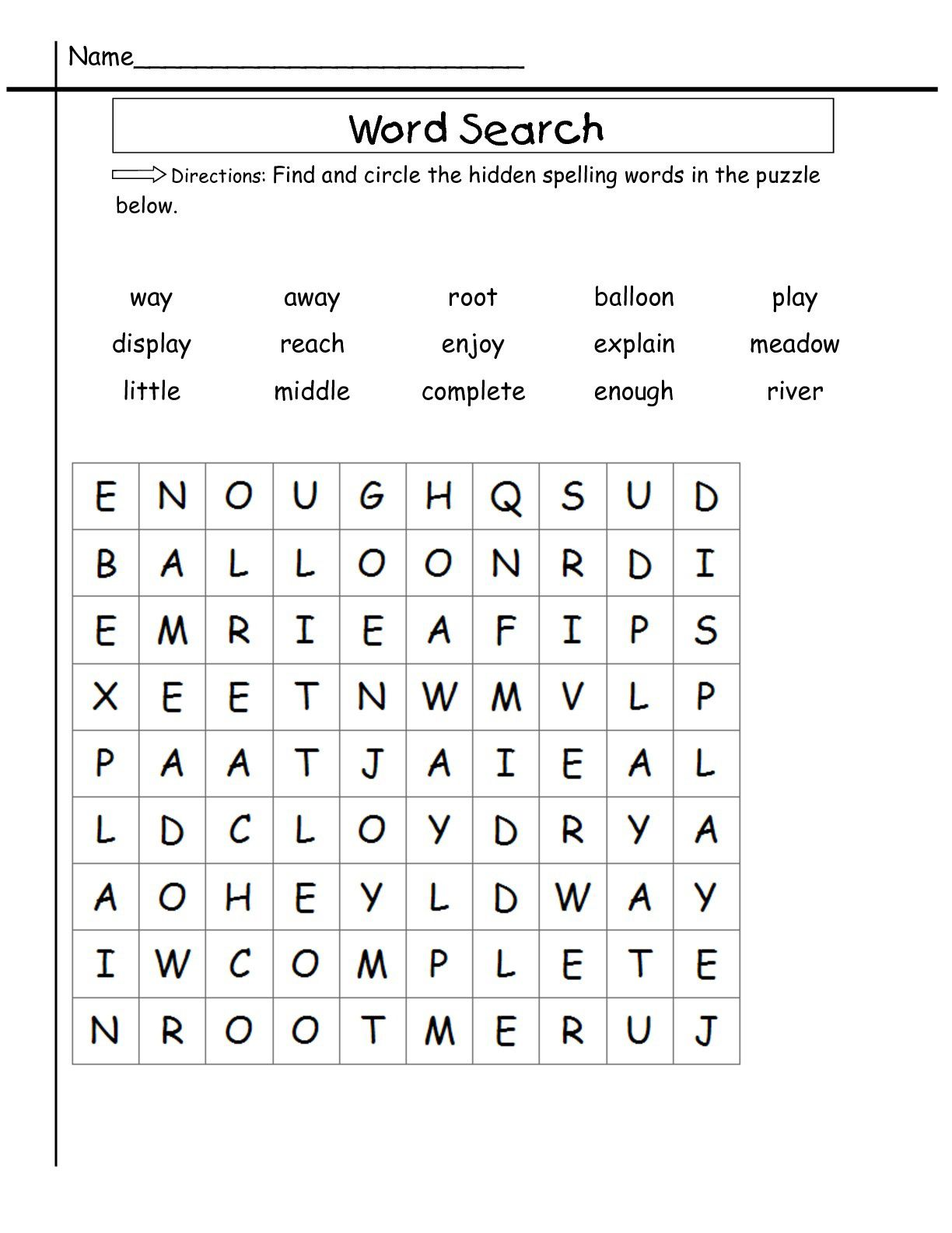 2nd Grade Word Search | Coloring pages for kids, 2nd grade ...