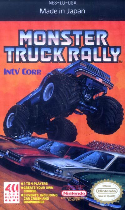 Monster Truck Rally - Label or Box Art #nintendo games #gamer #snes #original #classic #pin #synergeticideas #gameon #play #award