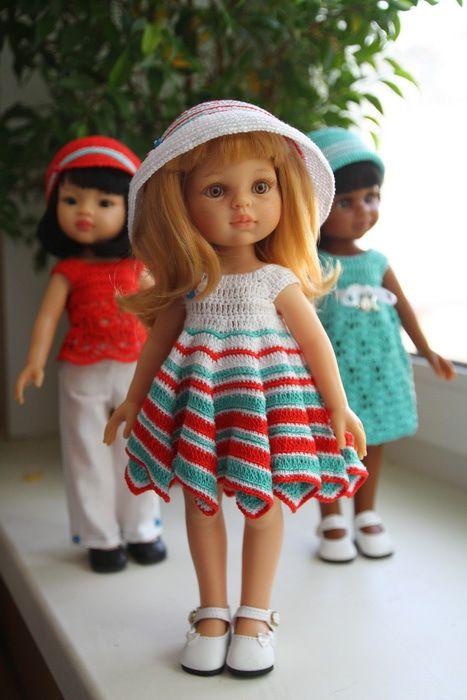 3 паолки под окном наряжались вечерком - Куклы Paola Reina и Nicoleta - Страна Мам