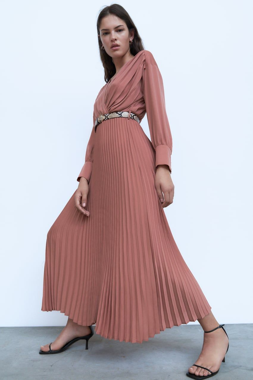 knit dress with guipure | zara india in 2020