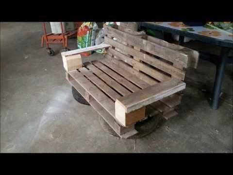 Costruire Mobili ~ Come costruire una panchina con due bancali tutorial for the