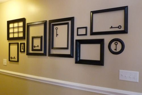 Great Use For Old Keys Gallery Wall Frames Empty Frames Frames