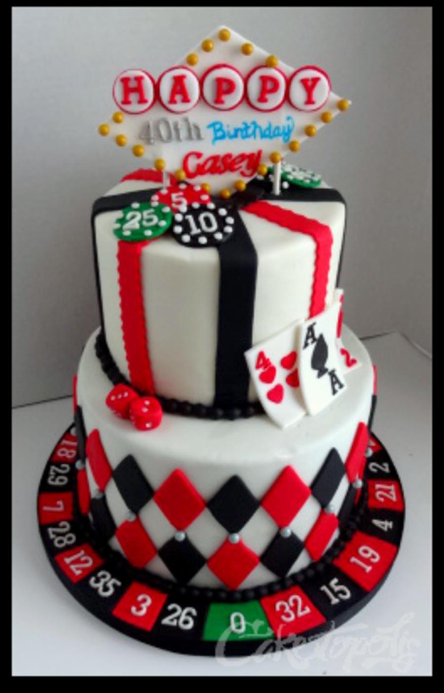 Magnificent Casino Night Birthday Cake Casino Cakes 40Th Birthday Cakes Personalised Birthday Cards Arneslily Jamesorg