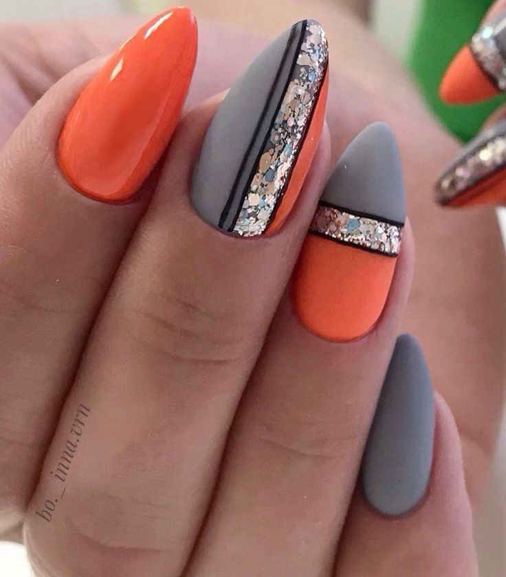 Photo of Image could contain: one or more people and close-up – nail design …