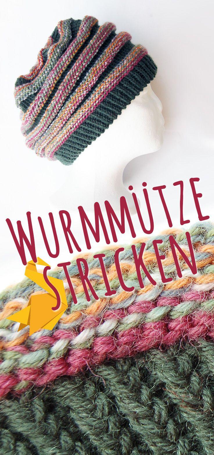 Photo of Wurmmütze stricken | Strickanleitung für Wurm-Beanie