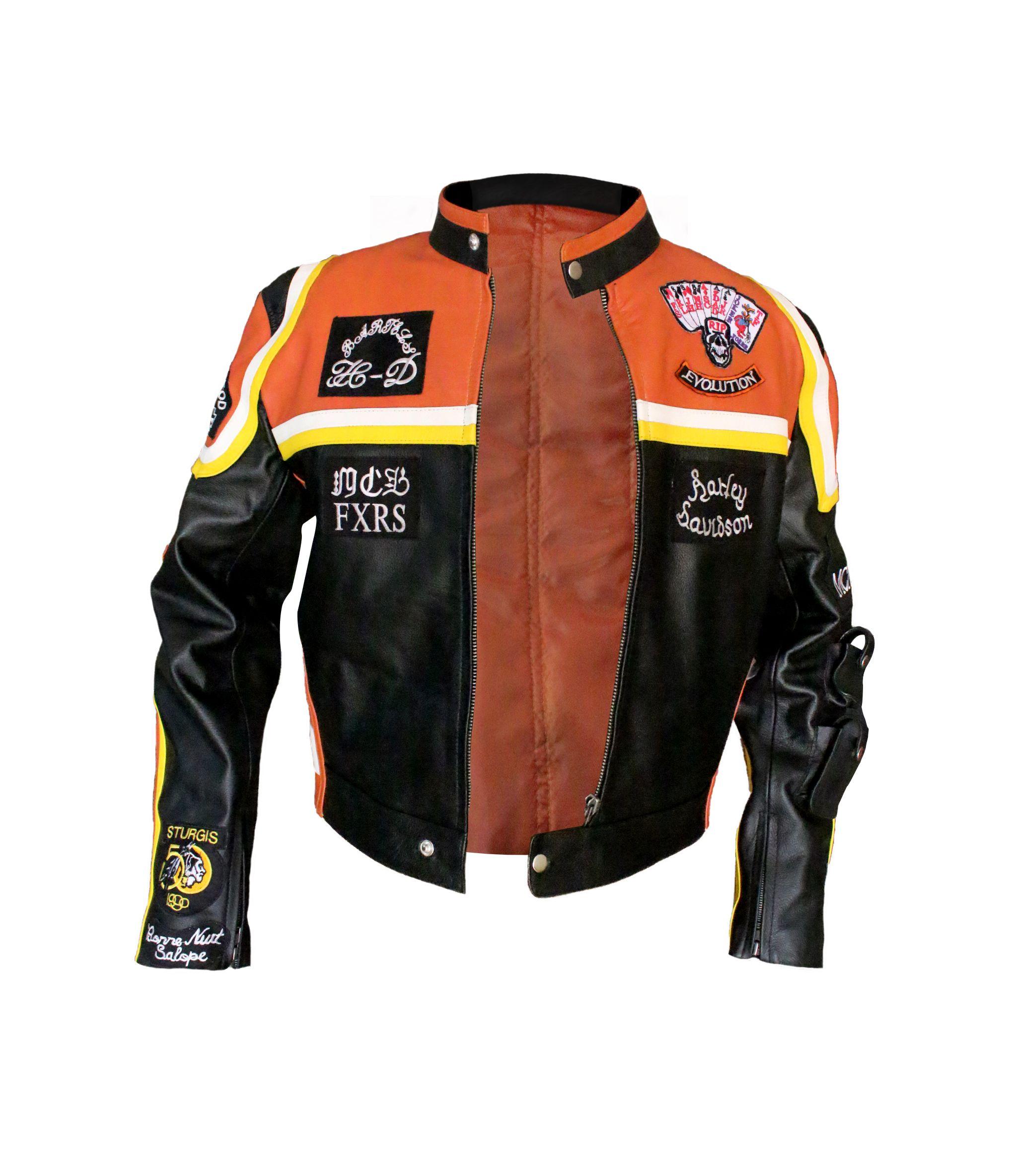 Harley Davidson Marlboro Mans Leather Jacket Marlboro