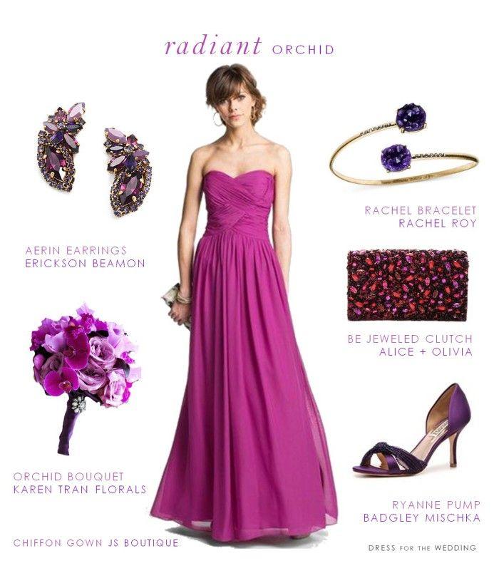 Radiant Orchid Wedding Style | Damas, Boda y Damitas de honor