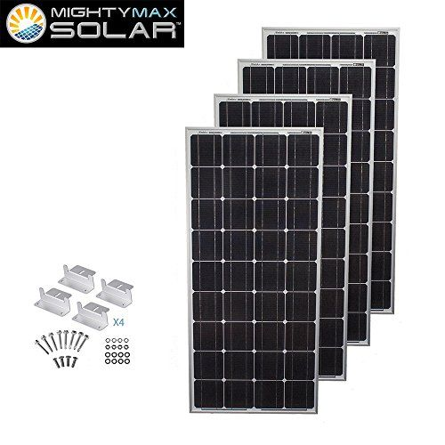 400 Watts 12 Volts Monocrystalline Solar Bundle Kit Mighty Max Battery Brand Product Click Image To Review More Details A Solar Panels For Home Solar Panels Off Grid System