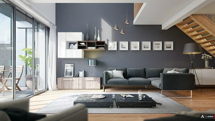 Modernes Wohnzimmer einrichten in den Farben Grau, Beige oder Weiß - Wohnzimmer Einrichten Grau