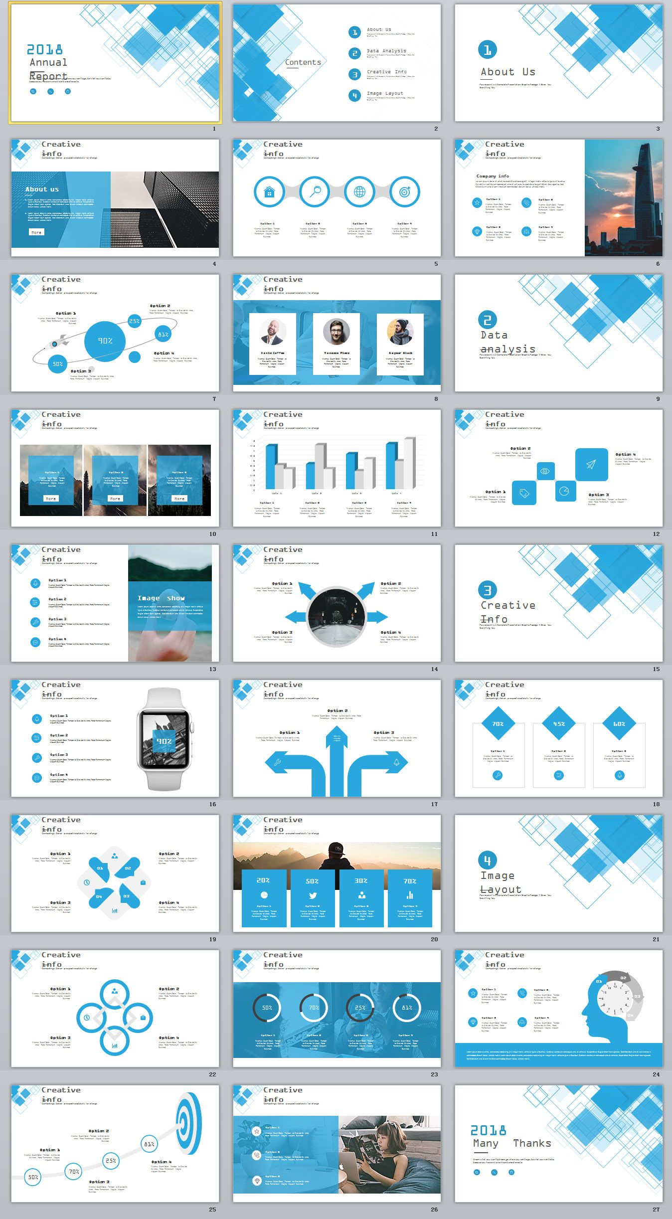27 blue business year plan powerpoint template on behance