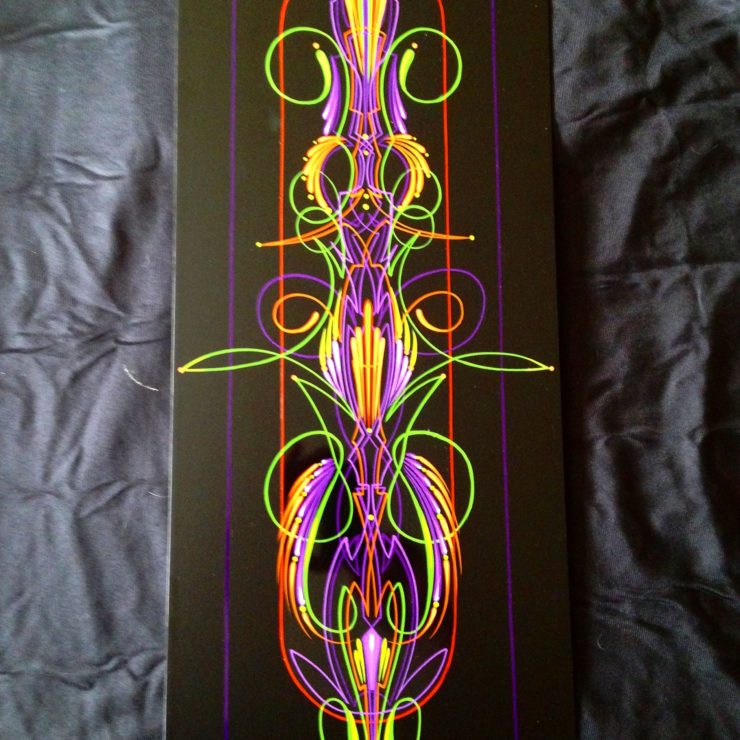 Fat Daddy Lines and Designs exclusive scroll style pinstriping ...