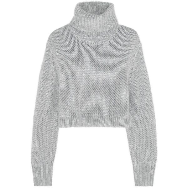 Cropped knitted turtleneck sweater ($305) ❤ liked on Polyvore featuring  tops, sweaters,