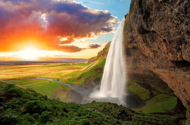 Iceland Beautiful Waterfalls Iceland Destinations Waterfall Pictures