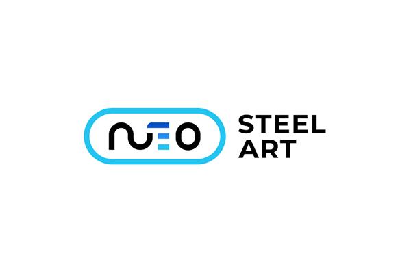 Neo Steel Art Logo Website Design On Behance Art Logo Initials Logo Design Steel Art