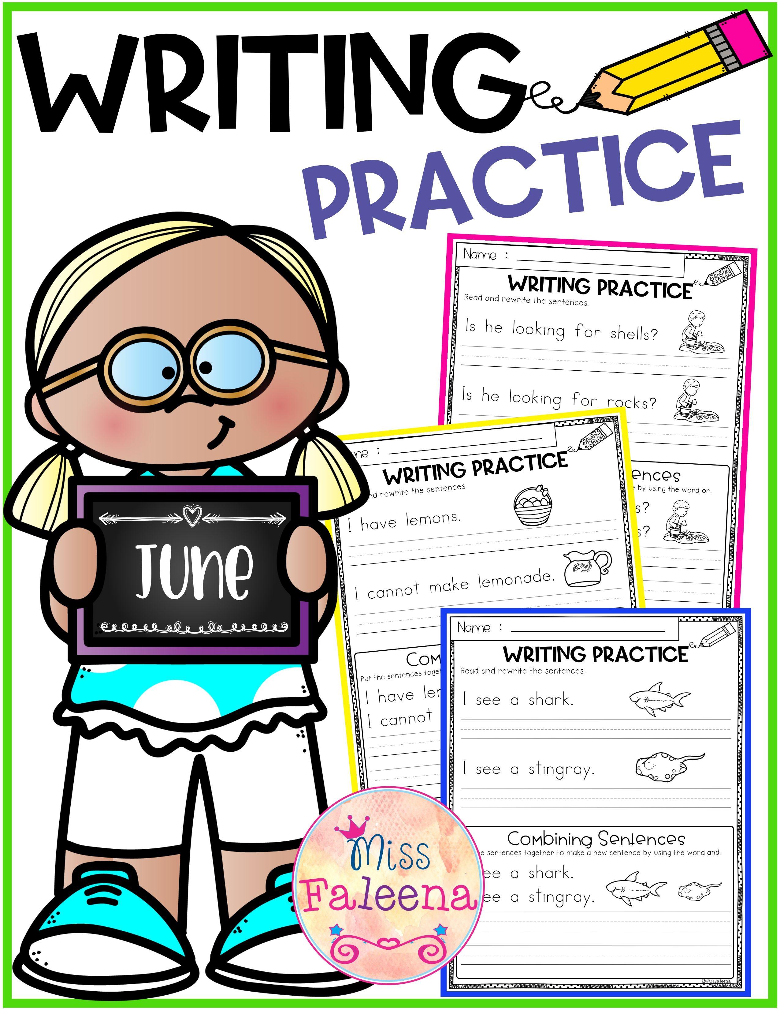 June Writing Practice Combining Sentences