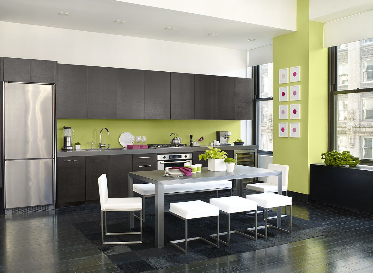 Modern Kitchen Color Schemes 404 error | green kitchen, wall papers and wrought iron