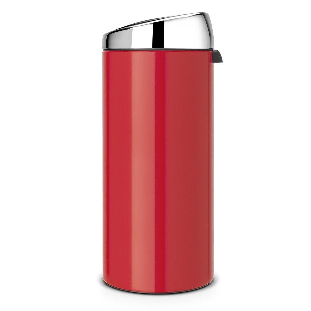 Brabantia 30 Liter Afvalemmer.Touch Bin Afvalemmer 30 Liter Kunststof Binnenemmer Passion Red
