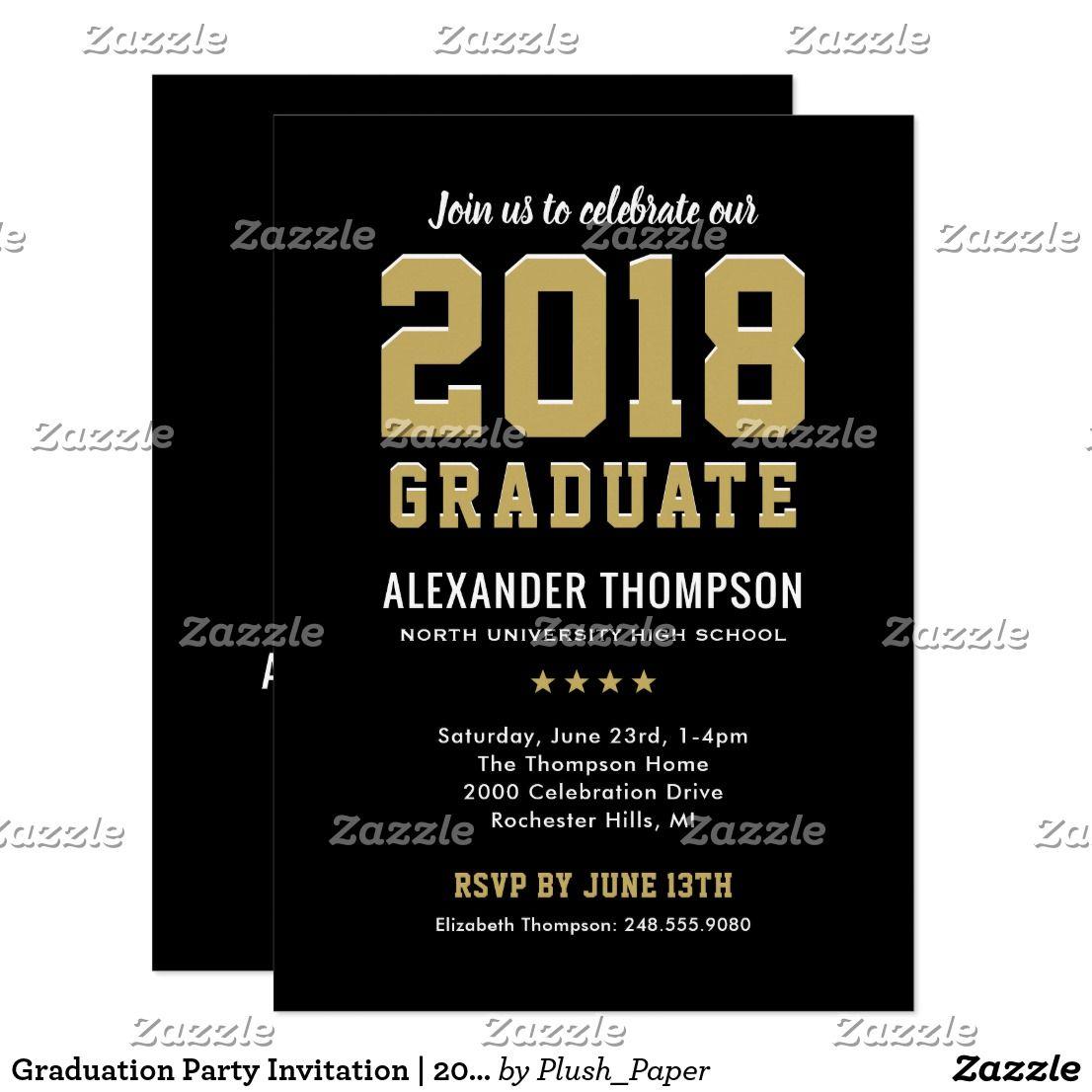 graduation party invitation 2018 graduate in 2018 congrats