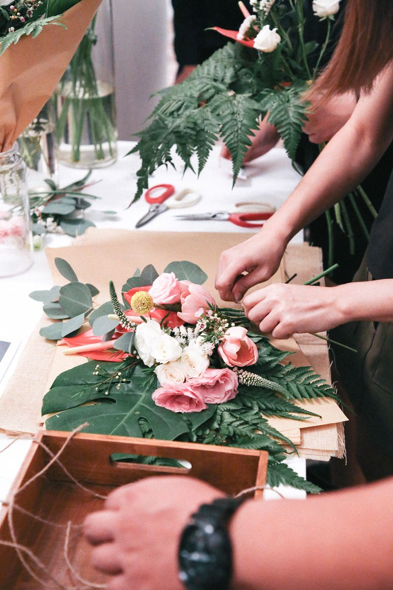 Shermaine and Kelvin's Wild, Botanical Wedding at Chijmes