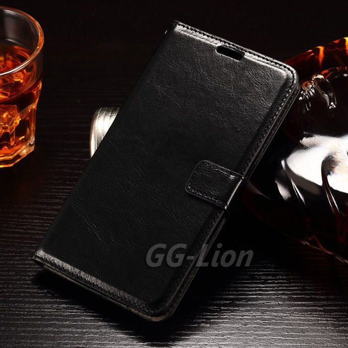free shipping 3c3a6 47996 Wallet Flip Leather Kickstand Black Case For Lg G Stylo Ls770 H634 ...