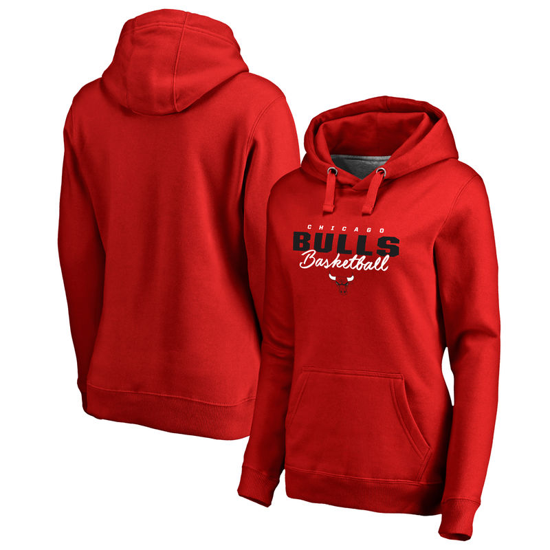 3b0e7e64 Chicago Bulls Fanatics Branded Women's Script Assist Plus Size Pullover  Hoodie - Red