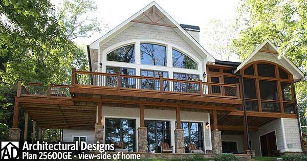 Outdoor Lover S Cottage House Plan Basement House Plans Cottage Plan Small Lake Houses