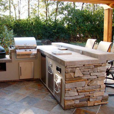 Hamilton Grill Island Project Backyard Kitchen Outdoor Kitchen Outdoor Kitchen Design