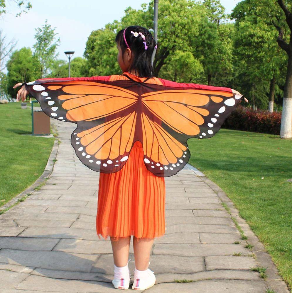 Child Kids Boys Girls Bohemian Butterfly Print Shawl Pashmina Costume Accessory
