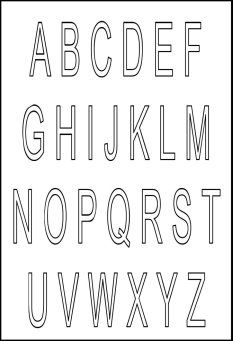 Free Printable Funny Alphabet Letters  LetteringStencilsFree