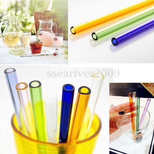 7-8-9-10-Reutilisable-Bande-Pailles-a-boire-de-verre-8mm-Fete-Mariage-Eco-TABLE